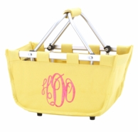 Yellow Monogrammed Mini Market Tote