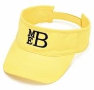 Yellow Twill Monogram Visor