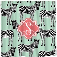 Zebras Personalized Shower Curtain - DESIGN YOUR OWN!