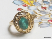Emerald Filigree Ring