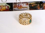 Filigree Emerald Ring