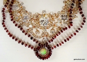 Garnet Opal Necklace