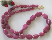 Indian Ruby Tumble Necklace