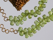 Peridot Drops Necklace