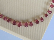 Pink Tourmaline on Wire