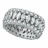 Eternity Diamond Marquise Ring, 18K White Gold