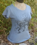 Dancing Trees Tee Blue