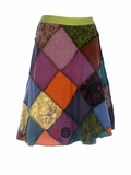 Patchy Wrap Skirt