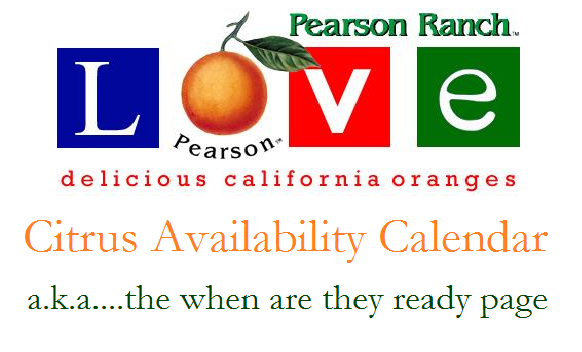 Citrus Availability Calendar