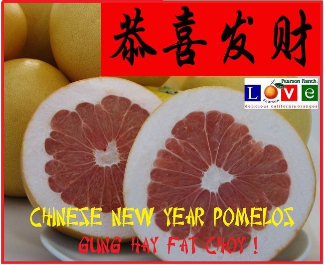 Lucky Chinese New Year  Pomelos