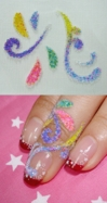 Bead Nail Tattoo Stickers