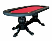 10 Player Poker Table with Pedestal Legs PT-7719