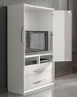 White 2 Door Armoire in Modern Style Carmen 33162CA