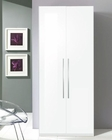 2 Door Wardrobe Blanca in White Modern Style Made in Italy 33B397