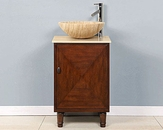 "20"" Silkroad Single Sink Cabinet Travertine Top"