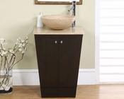 "22"" Silkroad Single Sink Cabinet Travertine Top"