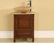 "22"" Silkroad Travertine Top Single Sink Cabinet"