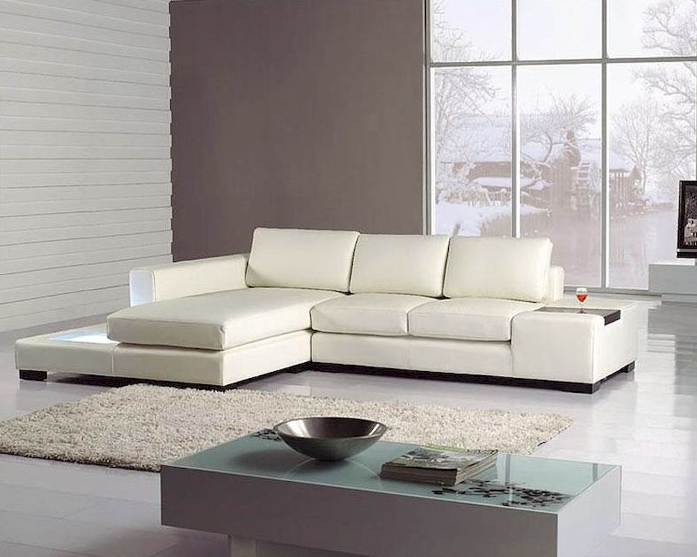 White Sofa Set Leather Modern Sectional Home Gallery