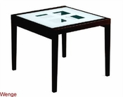 36in Expandable Dining Table Paloma w/ Frosted Glass Top Italy 33D92