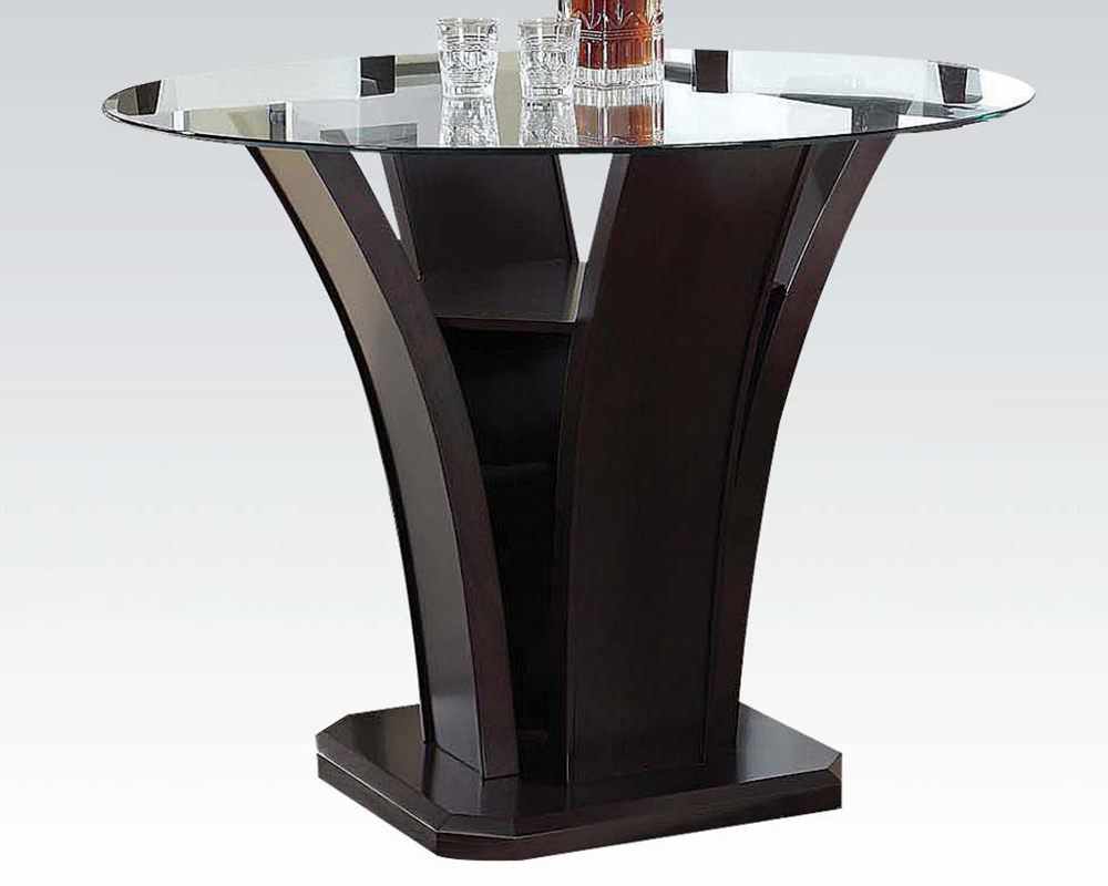 48in Dia Counter Height Table Malik by Acme Furniture AC