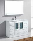 48in Single Bathroom Set in White Zola by Virtu USA VU-MS-6748-C-WH