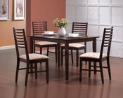 5 PC Dinette Set in Merlot CO-150201