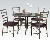 5pc Dining Set Daisy by Acme Furniture AC70150SET
