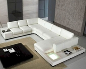 5pc White Leather Sectional Sofa Set  44LT35WHTHL