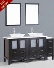 72in Square Vessel Sink Double Vanity by Bosconi BOAB230S1S