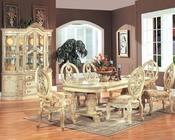 *7pc Formal Dining Set in White MCFD6009