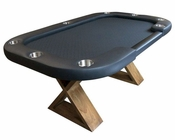 8 Player Modern Rustic Poker Table PT-7708