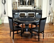 8 Player Round Poker Table Set with Classic Chairs PT-77041