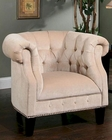 Abbyson Bellagio Fabric Nailhead Trim Armchair AB-55HS-SF-350-CRM