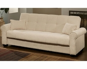 Abbyson Brighton Convertible Sofa with Storage AB-55YG-F26-IVY
