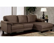 Abbyson Camden Dark Brown Microsuede Sectional AB-55CI-1195-BRN