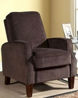 Abbyson Dark Brown Microsuede Pushback Recliner AB-55CR-10345-BRN