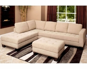 Abbyson Claridge Fabric Sectional AB-55CI-D10357-CRM