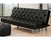 Abbyson Cordova Faux Leather Euro Lounger AB-55MS-M08-BLK