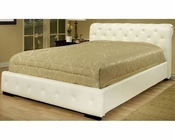 Abbyson Delano Faux Leather King Size Bed, White AB-55LI-HC043KI-WHT