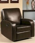 Abbyson Easton Dark Brown Bonded Leather Recliner AB-55CR-10227-BRN