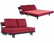 Abbyson Florence Fabric Convertible Sofabed AB-55MS-S25-MS75-RED