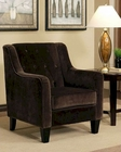Abbyson Hampton Dark Brown Fabric Arm Chair AB-55HS-SF-090-BRN