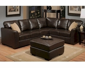 Abbyson Hayden Italian Leather Sectional AB-55CI-D220-BRN
