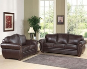 Abbyson Living 2 pc Sofa Set Berkely AB-55CI-D320-BRN-3-2