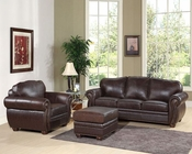 Abbyson Living 3 pc Sofa Set Berkely AB-55CI-D320-BRN-3-1-4
