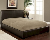 Abbyson Malibu  Bi-cast Leather Full-Size Bed AB-55LI-HC001FU-BRN