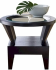 Abbyson Morgan Round Glass End Table AB-55FR7010-0230