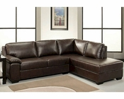 Abbyson Pearce Bonded Leather Sectional Sofa AB-55CI-H200-BRN
