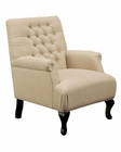 Abbyson Roma Tufted Fabric Club Chair AB-55HS-SF-195-NAT