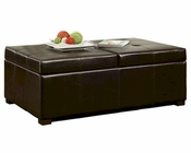 Abbyson Sheffield Bicast Leather Storage Ottoman AB-55HS-OT-022-BRN